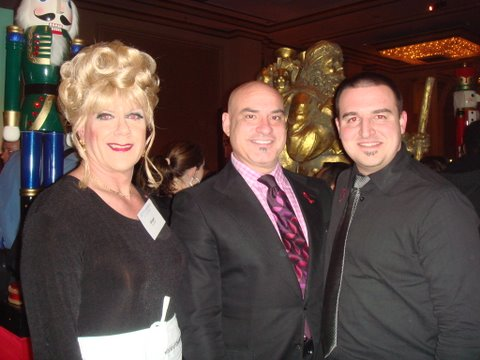 Ginger, Wayne Harth (director of catering for the Fairmont) and Jeremy Dobbie