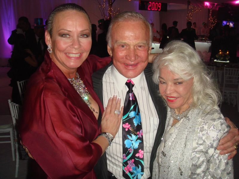 Me with astronaut Buzz Aldrin and his wife Lois
