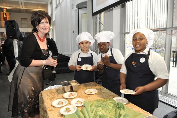 Blog 38 - Mini Chefs impressing guests at VIP reception