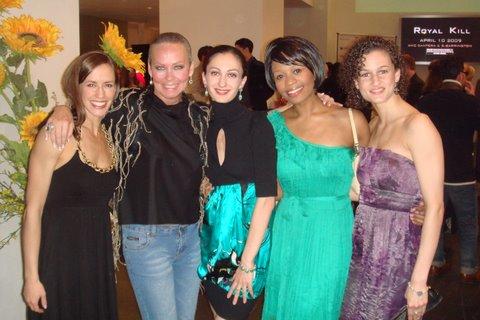Blog 10 - Joffrey dancers Megan Quiroz,  me, April Daley, Erica Lynette Edwards and Alexis Polito