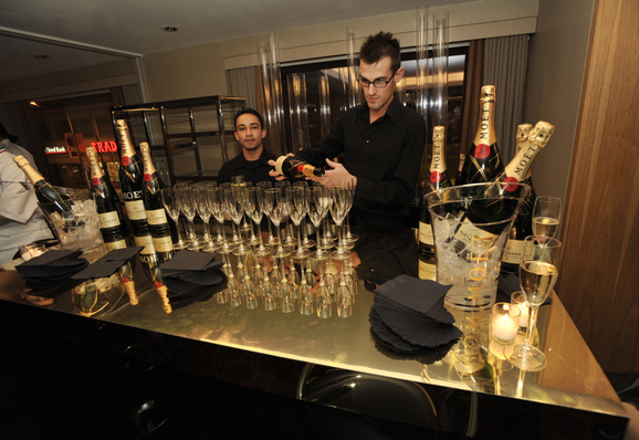 Blog 30 - moet champagne bar at the after party