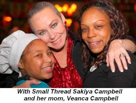 Blog 6 - With Small Threads Sakiya Campbell and her mom Veanca Campbell