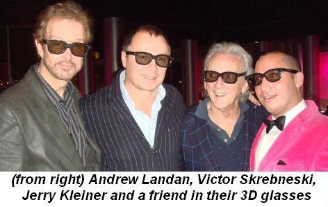 Blog 2 - from right Andrew Landan, Victor Skrebneski, Jerry Kleiner and friend in their 3D glasses