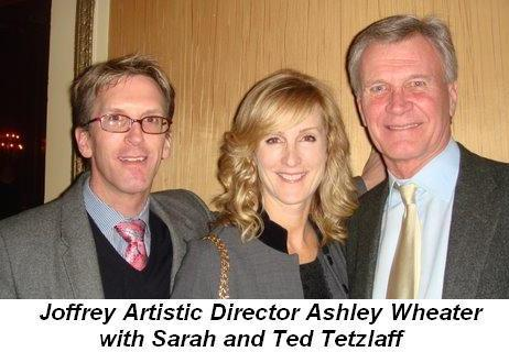 Blog 4 - Joffrey Ballet's Artistic Director Ashley Wheater with Sarah and Ted Tetzlaff
