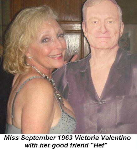 Blog 17 - Miss September 1963 Victoria Valentino with Hef