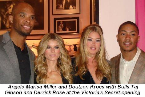 05 - Victoria's Secret store opening Angels Marisa Miller and Doutzen Kroes with Bulls Taj Gibson and Derrick Rose on Oct 6th
