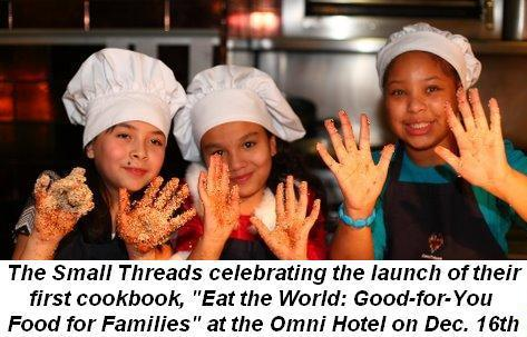08 - The Small Threads at the Omni celebrating their first cookbook launch Eat the World Good-for-You- Food for Families on Dec. 16th