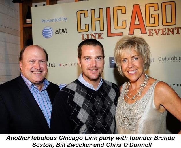 07 - Another fabulous Chicago Link party with founder Brenda Sexton, Bill Zwecker and Chris O'Donnell in Oct