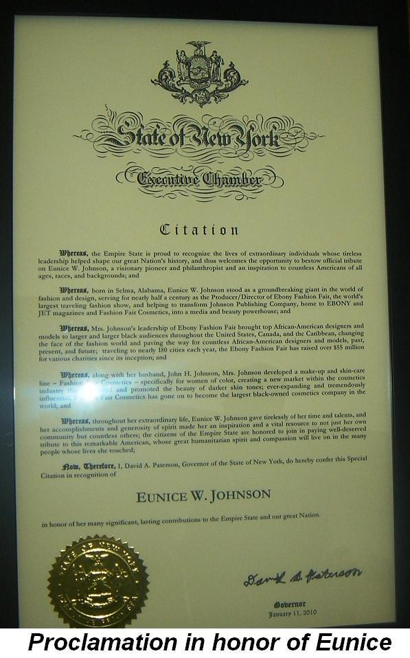 Blog 7 - Proclamation in honor of Eunice