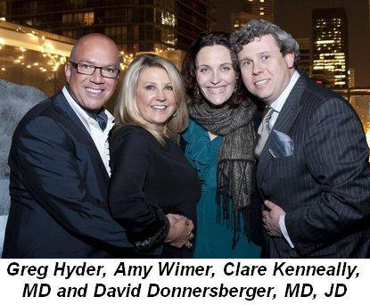 Blog 1 - Greg Hyder and Amy Wimer with Clare Kenneally, MD and David Donnersberger, MD, JD