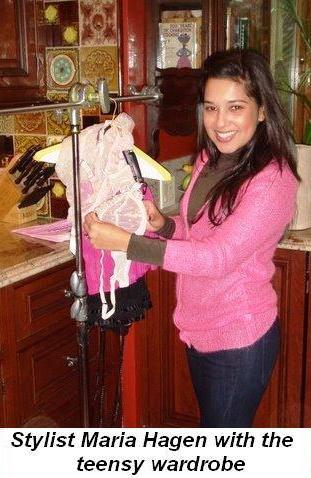 Blog 3 - Stylist Maria Hagen with the teensy wardrobe