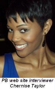 Blog 8 - PB website interviewer, Chernise Taylor
