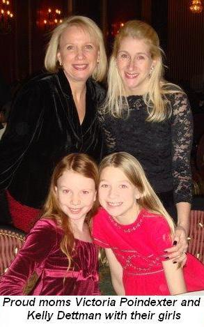 Blog 2 - Proud moms Victoria Poindexter and Kelly Dettman with their girls