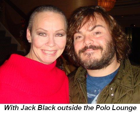 Blog 1 - With Jack Black outside the Polo Lounge