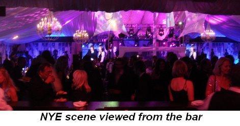 Blog 20 - NYE scene viewed from the bar