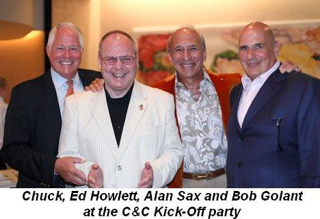 02 - Couture & Cocktails Kick-Off party at Neiman's Chuck, Ed Howlett, Alan Sax and Bob Golant on July 29th