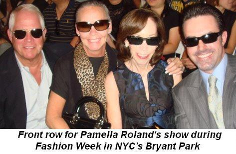 05 -  Front row for Pamella Roland's show during Fashion Week in Bryant Park on Sept 15th