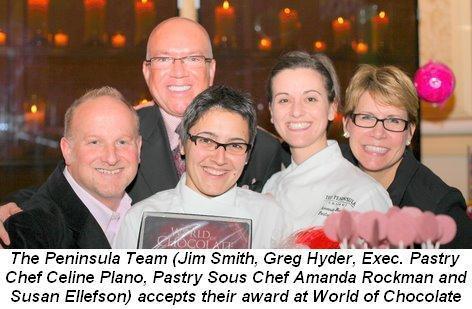 04 - World of Chocolate winners, the Peninsula team