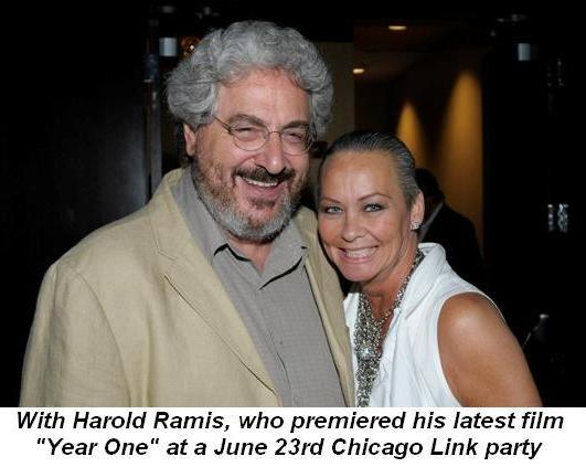 06 - With Harold Ramis at the premiere his movie Year One at Brenda Sexton's Chicago Link party on June 23rd