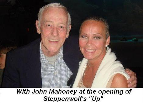 02 - With John Mahoney at the opening of Steppenwolf's Up on June 28th