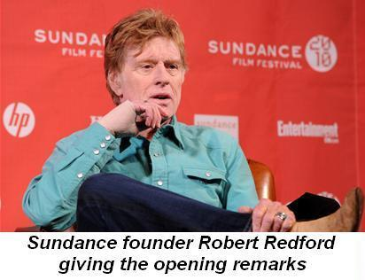 Blog 5 - Founder Robert Redford giving the opening remarks