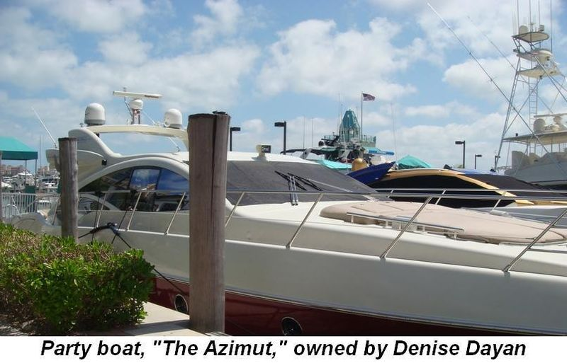 "Blog 3 - Party boat, ""The Azimut"", owned by Denise Dayan"