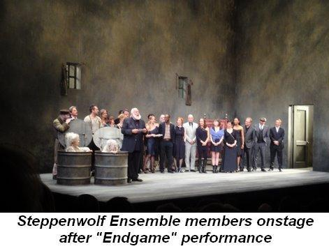 Blog 8 - Steppenwolf Ensemble members onstage after Endgame performance