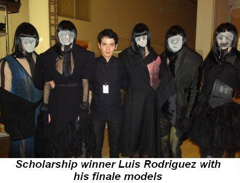 Blog 1 - Scholarship winner Luis Rodriguez with his finale models