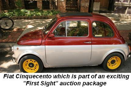 """Fiat Cinquecento which is part of an exciting """"First Sight"""" auction package"""