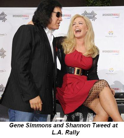 Blog 4 - Gene Simmons and Shannon Tweed at LA Rally