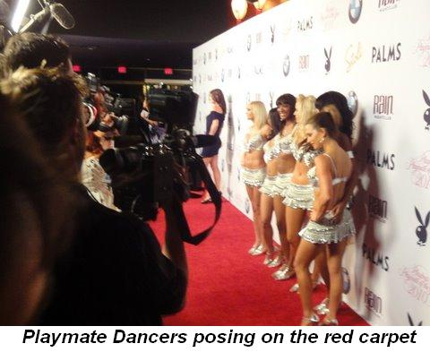 Gallery - Playmate Dancers posing on the Red Carpet
