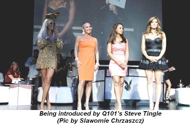 Blog 3 - Being introduced by Q101's Steve Tingle Pic by Slawomie Chrzaszcz