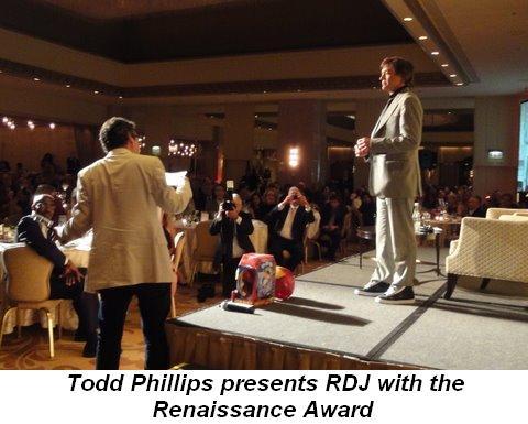Blog 10 - Todd Phillips presents RDJ with the Renaissance Award