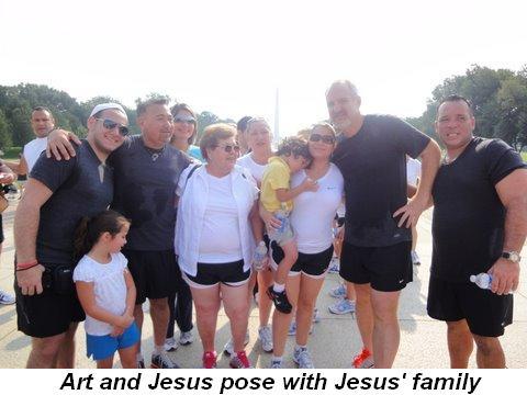 Blog 2 - Art and Jesus pose with Jesus' family