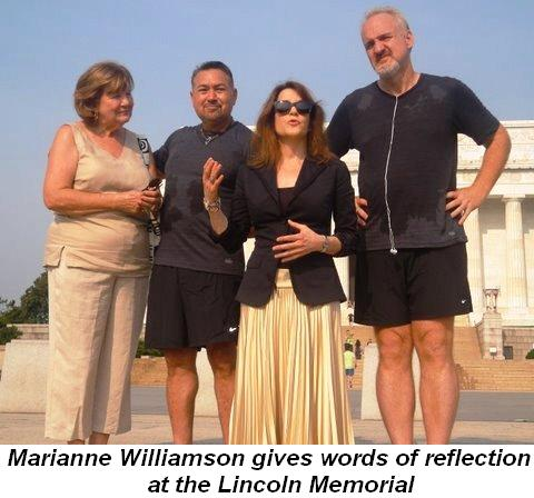 Blog 3 - Marianne Williamson gives words of reflection at the Lincoln Memorial
