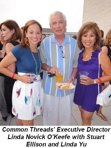 Blog 31 - Common Threads Executive Director Linda Novick O'Keefe with Linda Yu and Stuart Ellison