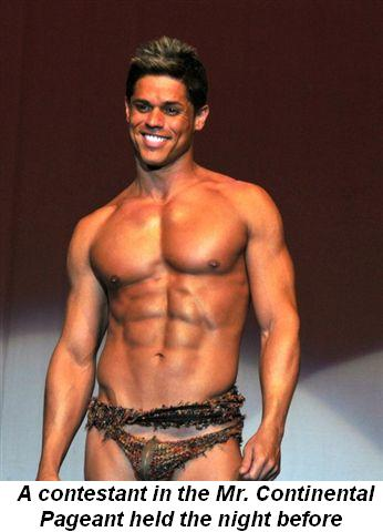 Blog 10 - A contestant in the Mr. Continental Pageant held the night before