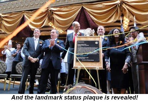 Blog 2 - And the landmark status plaque is revealed