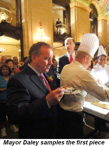 Blog 6 - Mayor Daley samples the first piece