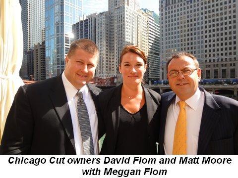 Blog 1 - Chicago Cut owners David Flom and Matt Moore with Meggan Flom
