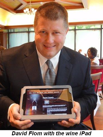 Blog 2 - Owner David Flom with the wine iPad