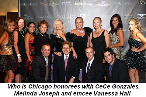 Blog 1 - Who Is Chicago honorees with Cece Gonzalez, Melinda Joseph and emcee Vanessa Hall