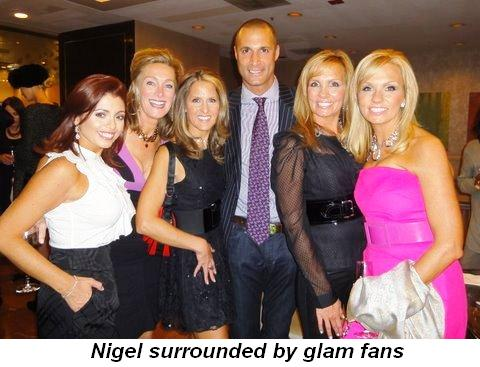 Blog 2 - Nigel surrounded by glam fans