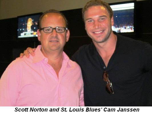 Blog 1 - Scott Norton and St. Louis Blues' Cam Janssen
