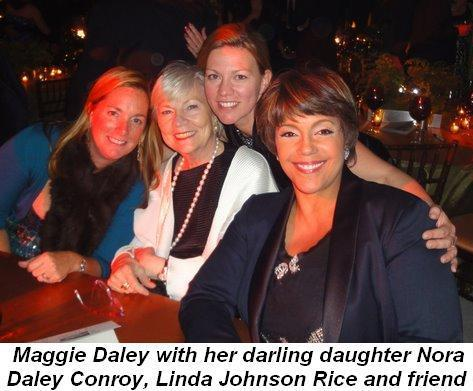 Blog 1 - Maggie Daley with her darling daughter, Nora Daley Conroy, Linda Rice Johnson and friend