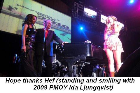 Blog - Hope thanks Hef standing with 2009 PMOY Ida Ljungqvist