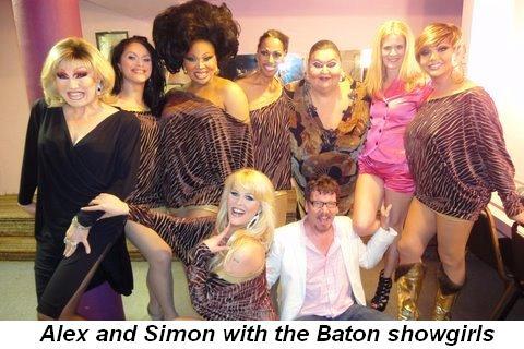 Blog 3 - Alex and Simon with the Baton showgirls