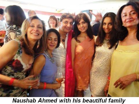 Blog 17 - Naushab Ahmed with his beautiful family