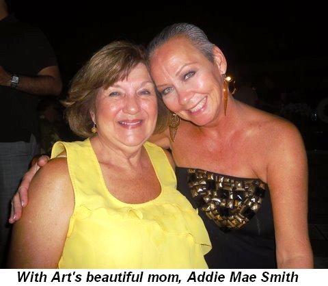 Blog 39 - With beautiful Addie Mae Smith, Art's mom