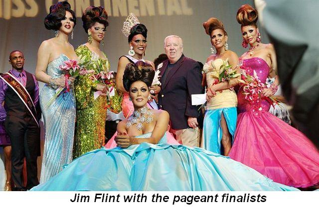 Blog 4 - Pageant finalists with Jim Flint